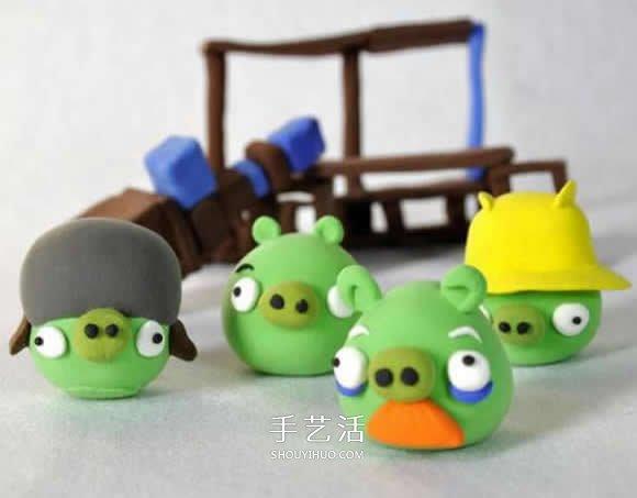 粘土作品简单可爱图片 儿童粘土作品大全图片_手艺活网图片