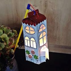 创意新年/中秋节灯笼DIY 牛奶盒做灯笼的方法