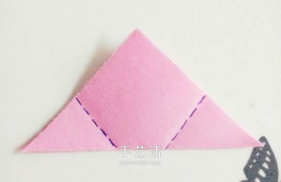 情人节红玫瑰折纸 美丽纸玫瑰花的折法图解 -  www.shouyihuo.com