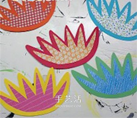 彩纸百合的制作方法 简单做百合花的步骤图