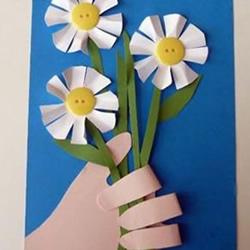 我把花儿送给您!漂亮教师节花朵贺卡的做法