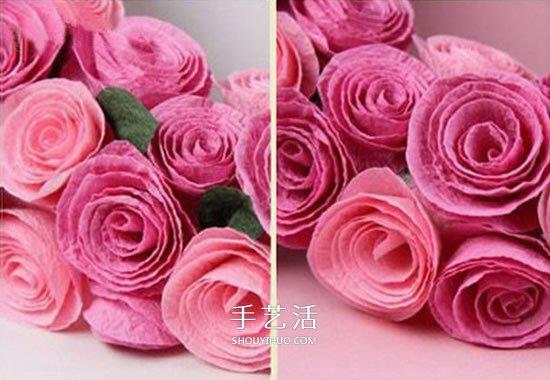 皱纹纸手工制作立体,漂亮的花朵,方法很简单,只要把皱纹纸叠放,剪纸