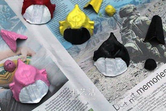 幼儿园手工做直升飞机 鸡蛋托制作飞机的方法 -  www.shouyihuo.com