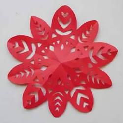 如雪花般美丽!手工剪纸窗花的剪法图解教程