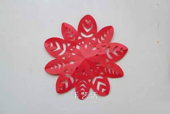 如雪花般美丽 手工剪纸窗花的剪法图解教程