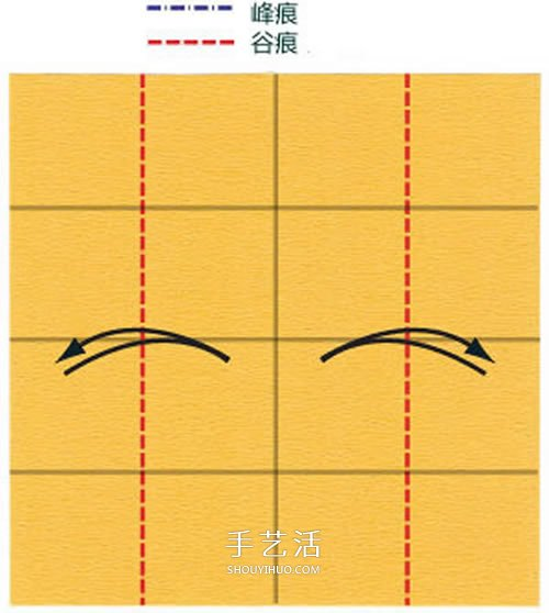 在川崎玫瑰上进行改造 美丽纸玫瑰花手工折法 -  www.shouyihuo.com