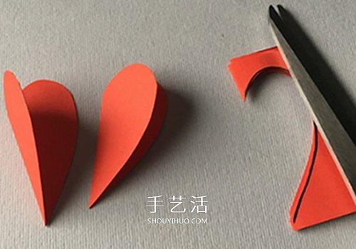 情人节立体花朵贺卡DIY 自制母亲节爱心花贺卡 -  www.shouyihuo.com