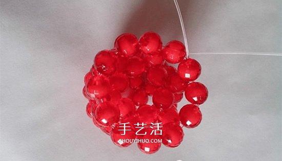 情人节串珠玫瑰花DIY 用串珠做红玫瑰的方法图片