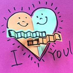 卡通风情人间贺卡制作 可爱爱心贺卡的做法