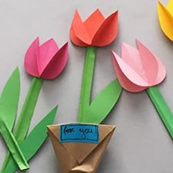怎么用卡纸做康乃馨 母亲节康乃馨花手工制作