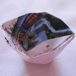 用废纸折叠垃圾盒图解 手工简易垃圾盒怎么做