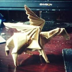 如何折纸飞马的图解教程 手工天马的折法步骤