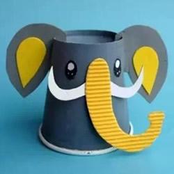 纸杯大象怎么做图解 幼儿废物利用制作大象