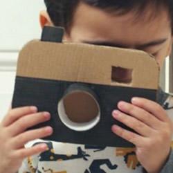 硬纸板手工制作相机 儿童做玩具相机的教程