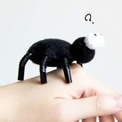 手工蜘蛛怎么做图解 吸管手工制作万圣节蜘蛛