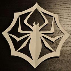 万圣节蜘蛛剪纸的教程 含蜘蛛图纸下载打印