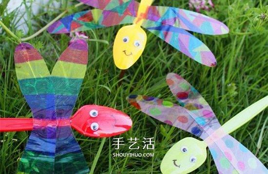 简单的手工小制作,带大家做一个漂亮的蜻蜓,等到春暖花开日,就让它到