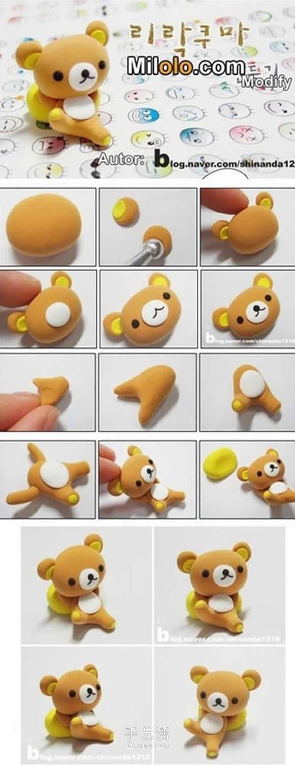 简单又可爱 8种超轻粘土DIY制作小动物的教程图片