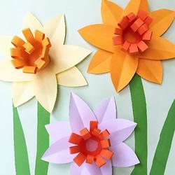 手工卡纸花的做法图解 幼儿制作立体花朵教程