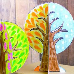 植树节手工小制作 用卡纸做立体大树的方法