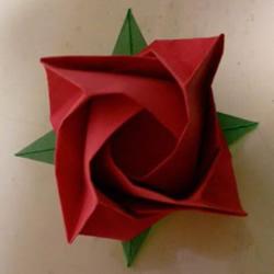 LS玫瑰花的折法图解 手工怎么折LS玫瑰步骤