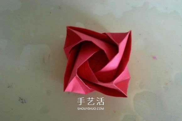 LS玫瑰花的折法图解 手工怎么折LS玫瑰步骤 2图片