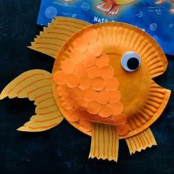 纸盘手工制作金鱼 简单又好玩的废物利用