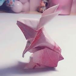 详细的折纸图解过程 带你学立体兔子的折法图片