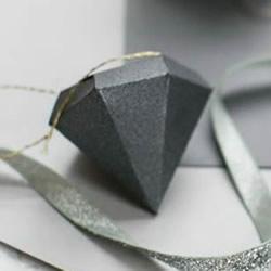 卡纸手工制作立体钻石 变成情人节表白饰物