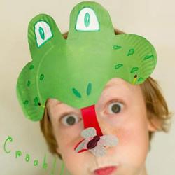 夏天趣味小手工 用蛋糕纸盘制作卡通青蛙面具
