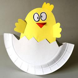 破壳日快乐!用蛋糕纸盘制作破壳而出的小鸡