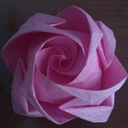 卷心式花心玫瑰花的折法 包括整形的经验心得