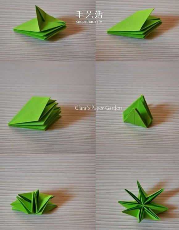 简单又很漂亮的纸花 手工八瓣花的折纸图解图片