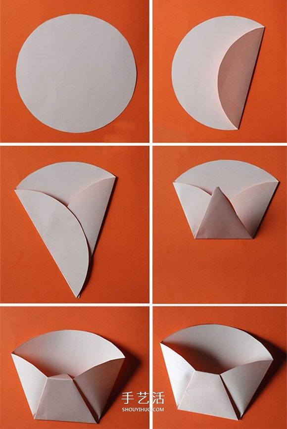 幼儿用卡纸折纸盒教程 手工制作复活节彩蛋图片