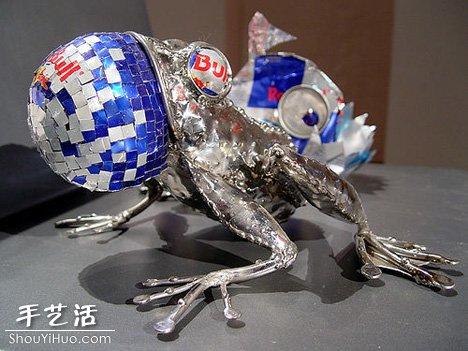易拉罐製作的環保藝術品