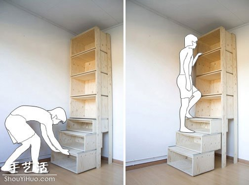 帶梯子功能的儲物櫃