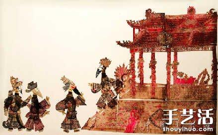 傳統皮影戲珍品藝術作品欣賞