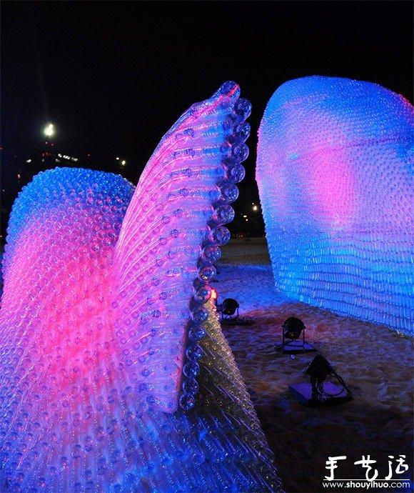 廢棄塑料瓶DIY的巨魚