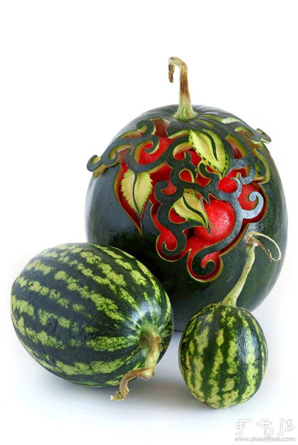 水果蔬菜创意制作_水果蔬菜雕刻的创意作品(2)_手艺活网