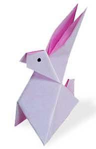 站立小兔子摺紙方法