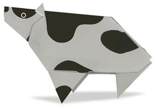 搞笑奶牛摺紙方法