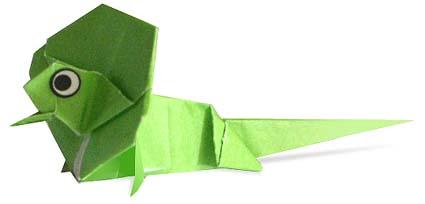 綠色蜥蜴摺紙方法