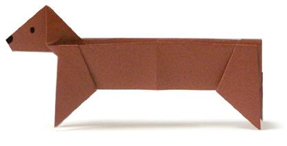 臘腸狗摺紙方法