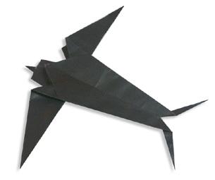 燕子手工摺紙方法