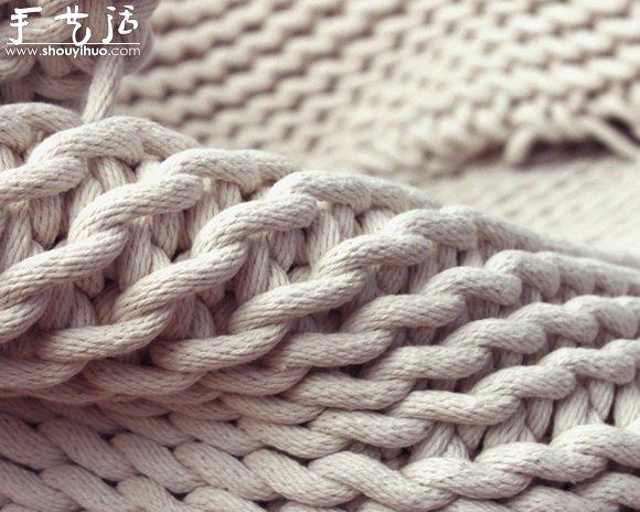 毛線編織出的懶人沙發