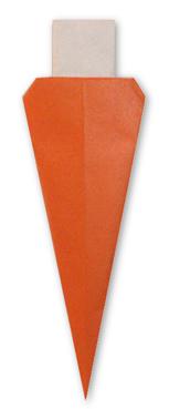 胡蘿蔔摺紙方法
