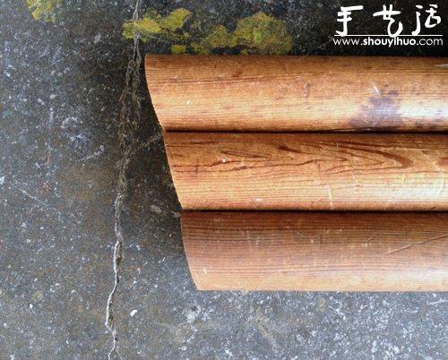 手工DIY柳編墊板凳
