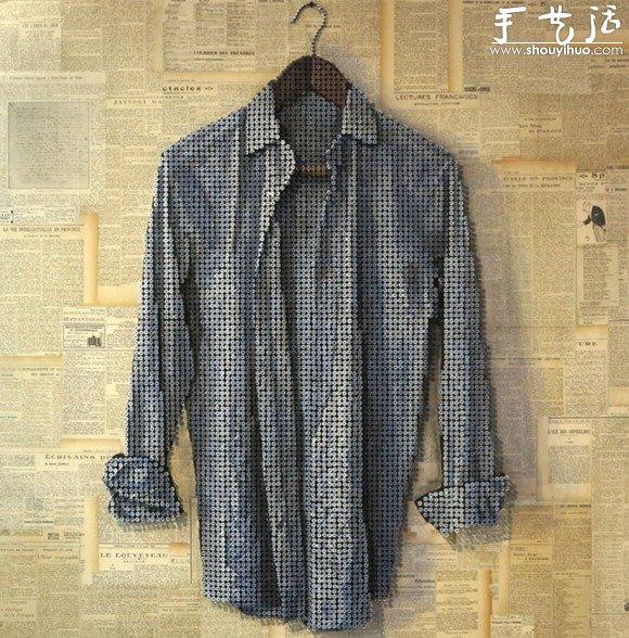 螺丝钉diy制作的衬衫 手艺活网