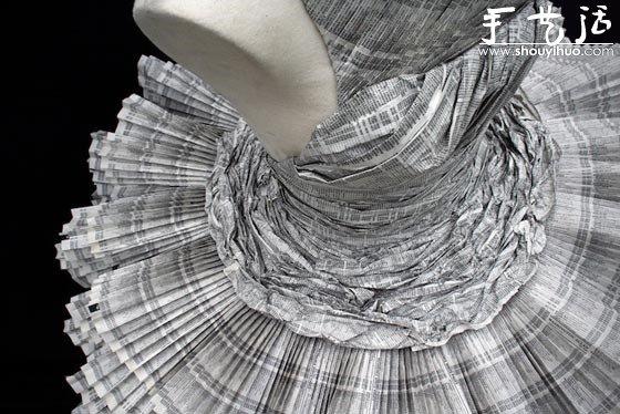 电话簿手工制作的礼服 -  www.shouyihuo.com