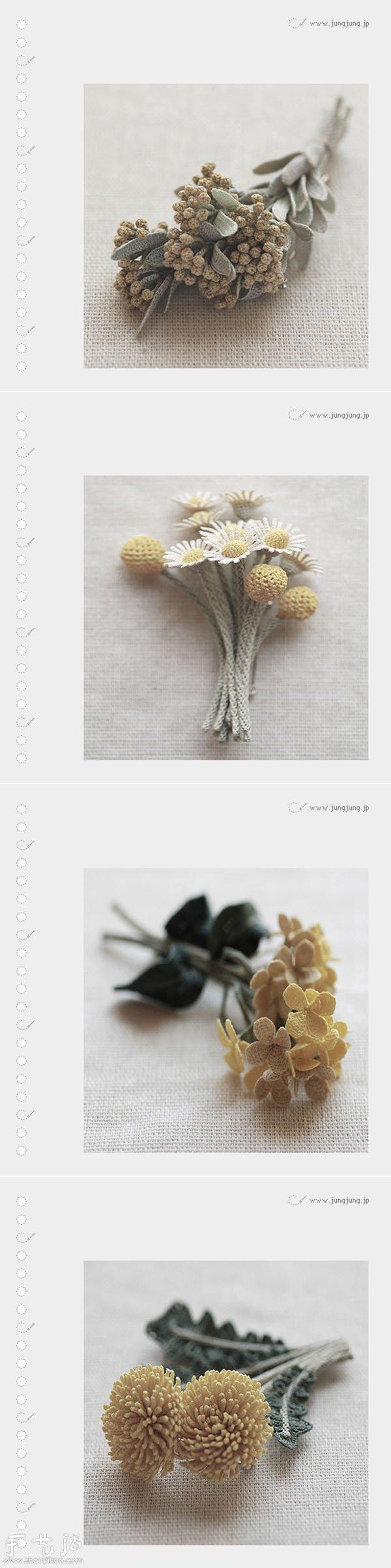 清新淡雅的鉤編達人作品
